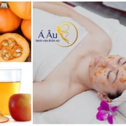 Bí ngô và dấm táu sẽ giúp chị em có được công thức dưỡng da hoàn hảo và trắng đẹp tự nhiên