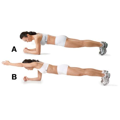 Động tác Plank with Arm Lift nữ giới